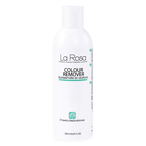 La Rosa Nagellackentferner ohne Aceton, Acetonfrei Nagellack-Entferner - COLOUR REMOVER LIQUID - Acetone-free nail polish remover, 250 ml