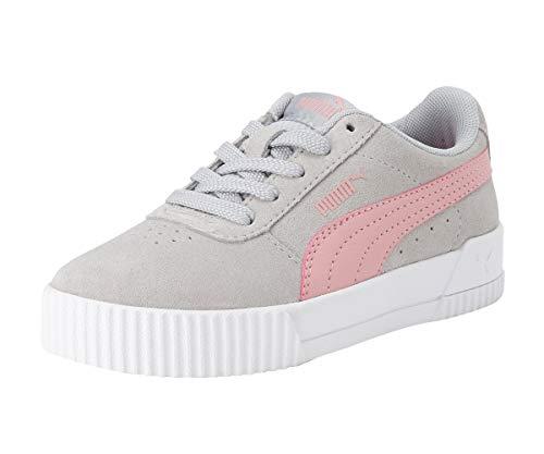 PUMA Carina Kids Mädchen Sneaker Gray Violet-Bridal Rose UK 12_Youth_FR 31