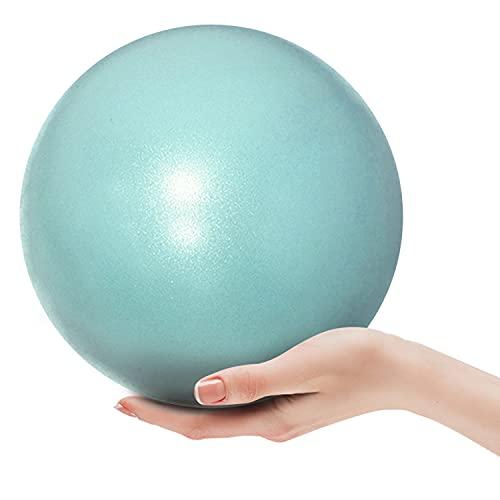 Pelota de gimnasia, pilates y yoga, pelota de ejercicios, superligera y antideslizante, 25 cm, para ejercicios de equilibrio para vientre y espalda