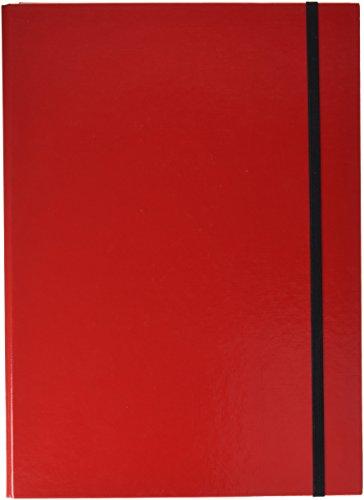 Pagna Heftbox Basic Colours A4 3 Innenklappen, mit Gummizugverschluss, rot