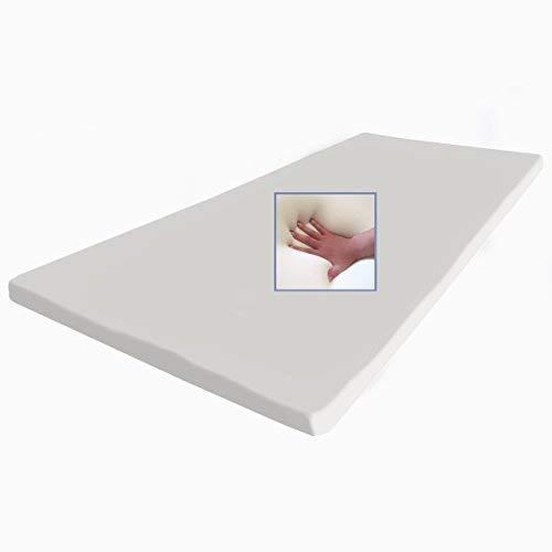 supply24 Gel/gelschuim matras topper 160 x 200 cm hoogte 5 cm topper voor matras met afneembare katoenen overtrek