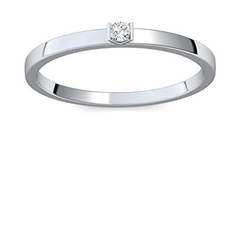 Verlobungsringe Weißgold 585 Brillant