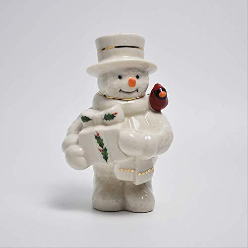 SUPERHUA creativa hecha a mano de cerámica cardenales tomar regalos muñeco de nieve Navidad decoración de cerámica adornos regalos del día del niño