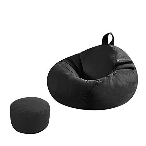 SD Canapé Bean Bag Chaise Pouf Poire Confortable A des Poches Latérales avec Repose-Pied pour Enfants Et Adultes 90 * 100 Cm