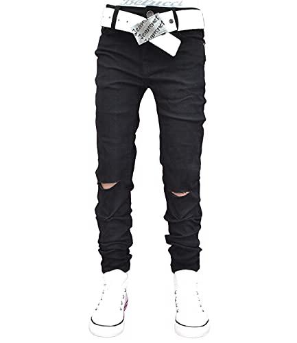 A1807 Squared & Cubed Jeans Hose Junge Kinder Skinny schwarz 122-164 (12 (ca.140-146, Skinny), schwarz)