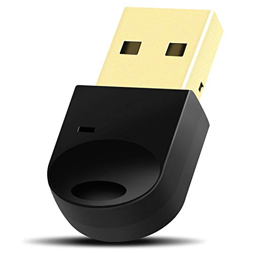 Bluetooth 4.2 USB Transmitter Dongle - Bluetooth 4.2 Transmitter Stereo Music Wireless Transfer up to 3Mbbs for Bluetooth Headphone Speakers, Support Windows 10/8/ 7 for PC Desktop Laptop