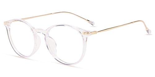Firmoo Gafas Ordenador luz Azul Mujer Hombre, Gafas Gaming para Antifatiga Anti UV, Gafas protectoras Pantallas Electrónicas, S7715 Transparentes Morado