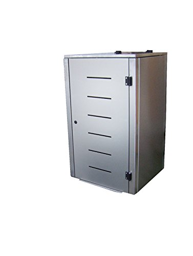 Mülltonnenbox Edelstahl, Modell Eleganza Line1, 120 Liter als Dreierbox - 2