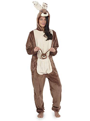 Pijama Entero Mujer con Unicornios Koala Perro Gato Koala Dinosaurio Pijamas de Animales Onesie Todo en Uno (S, Canguro)