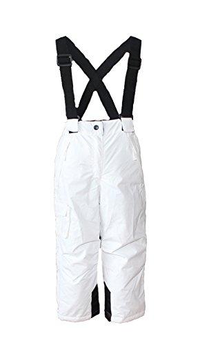 Mädchen Skianzug Skihose Skijacke Snowboardhose Snowboardjackre Schneehose Türkis/Weiß 134/140 - 3