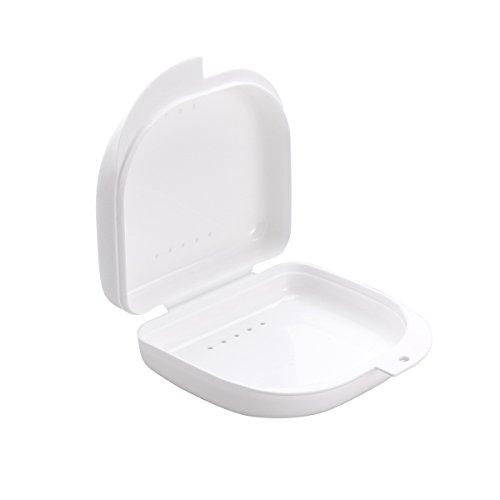 Artibetter Zahnspangendose Aufbewahrungsbox Zahnspangenbox für Knirscherschiene Aufbissschiene Mundschutz Zahnschutz (weiß)