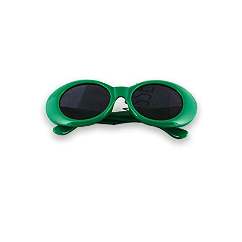 Clout Goggles Oval Hypebeast Eyewear Supreme Glasses Cool Sunglasses (Green, 51)