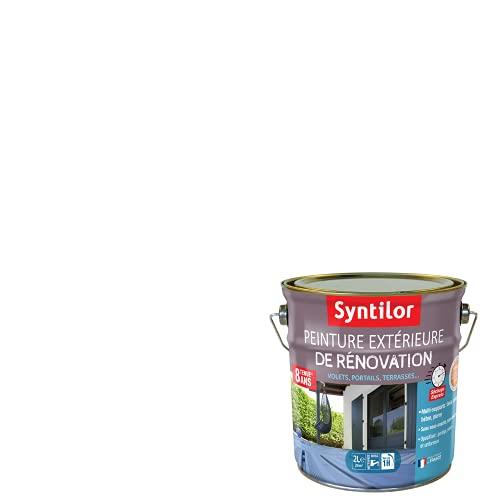 Syntilor - Rénovation Extérieure Terrasses, Volets, Portails Tenue 8 ans* Blanc 2L