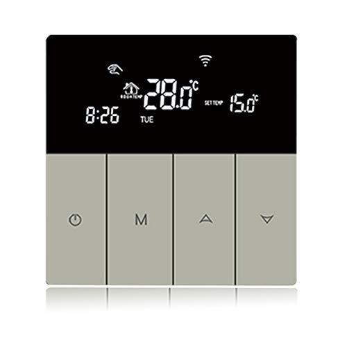 Beok WiFi Raumthermostat für elektrische Heizung, digitale Thermostate mit LCD-Touchscreen, programmierbarer Temperaturregler mit Sprachausgabe von Google Home Alexa, TGP51G von AC200 240V (WIFI)