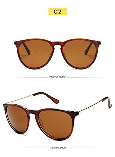 Gafas de sol retro Cat Eye Lady Brand Designer Ray Protection Gafas de sol con espejo Protección UV-té