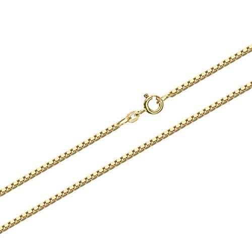 NKlaus 38cm Goldkette 1,2mm Venezia 585 Gelbgold 14 Karat Venezianerkette 3,65g Kette 9375