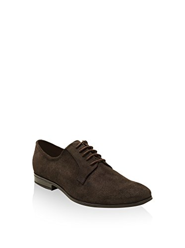 Lorenzo Lucas JD-T0901, Zapatos de Cordones Derby Hombre, Chocolate, EU 42