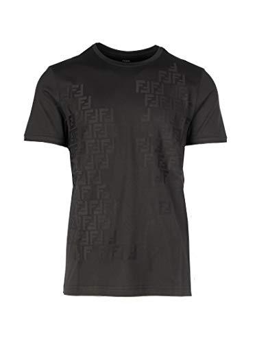 Luxury Fashion | Fendi Heren FY0894AAODF0QA1 Zwart Katoen T-shirts | Lente-zomer 20
