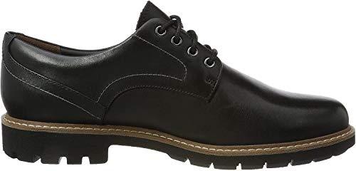 Clarks Herren Batcombe Hall Derbys, Schwarz (Black Leather), 45 EU