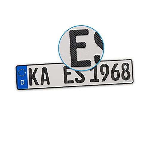 ESCARBO Carbon-Kennzeichen Premium Carbon Optik Kennzeichen (420 mm)