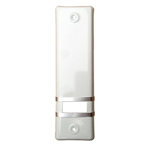 1x Rolladengurt Abdeckung Gurtwicklerblende | Weiß | 185mm | ohne Gurtausbau