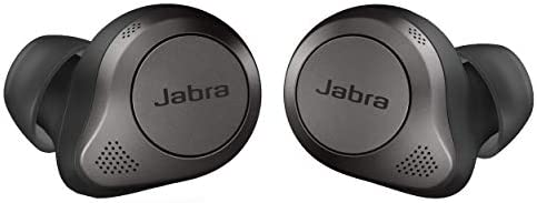 Jabra Elite 85t True Wireless Bluetooth Earbuds, Titanium Black – Advanced Noise-Cancelling Earbuds with Charging Case...