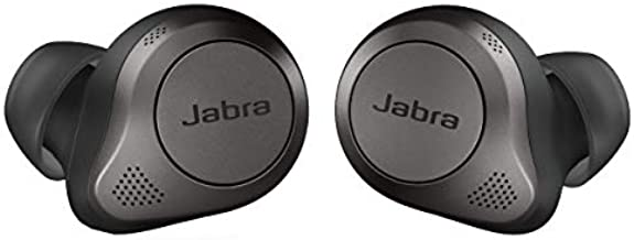 Jabra Elite 85t True Wireless Bluetooth Earbuds, Titanium Black – Advanced Noise-Cancelling Earbuds with Charging Case for Calls & Music – Wireless Earbuds with Superior Sound & Premium Comfort
