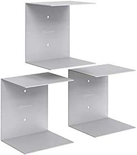 APPUCOCO Book Shelf Wall Mounted Heavy Duty Metal Invisible Book Shelves 3 Piece Per Pack (Made in India) with Screws & Pl...