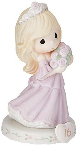 Precious Moments 162015 Crescendo na graça, 16 anos, estatueta de porcelana bisque, loira