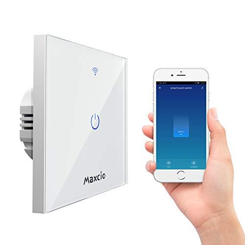 Interruptor Luz WiFi, Maxcio Interruptor Inteligente 1 Gang...