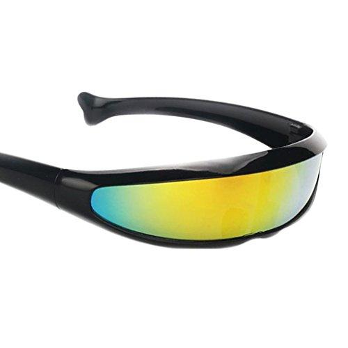 Sharplace Gafas de Sol con Visera de Lente Estrecha 3xFuturistic Negro