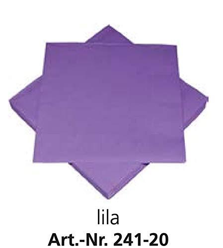 20 Servietten 33x33cm HEKU Tissue lila