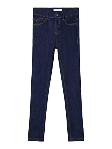 NAME IT Mädchen NKFPOLLY DNMTEJAS 3340 HW Pant NOOS Jeans, Dark Blue Denim, 98