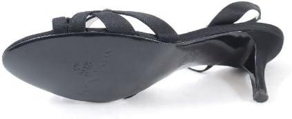 NINA Calise Womens Dressy Sandals Black Luster Satin