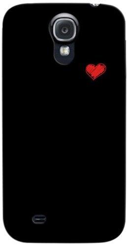 i-Paint 140508 beschermhoes met sticker voor Samsung S4, Hart, Blanco Y Gris