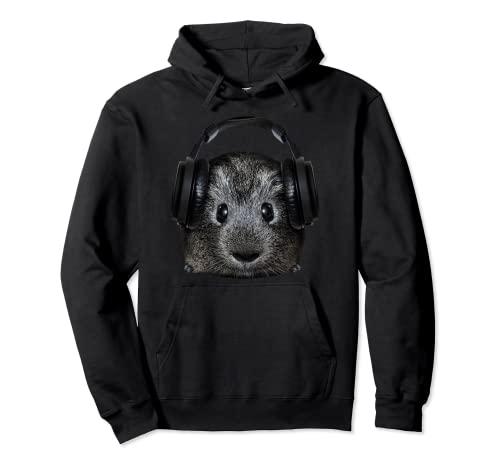 DJ Meerschweinchen Geschenk Musik Festival Elektro Haustier Pullover Hoodie