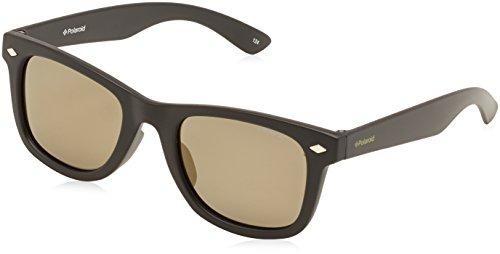 Polaroid PLD 8006/S LM DL5 Gafas de sol, Negro (Matt Black/Grey Goldmir Pz), 48 Unisex Niños