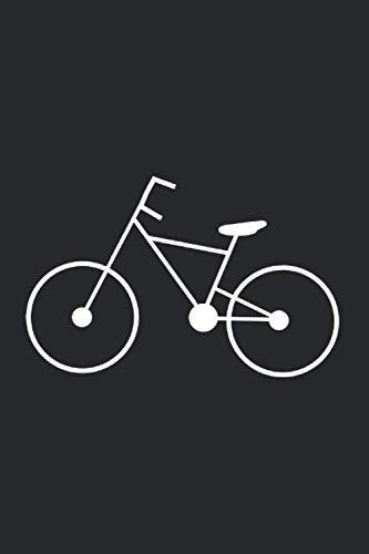 Notizbuch: Fahrrad Radfahrer radfahren Notizbuch schwarz ,6x9 Zoll (ca A5) liniertes Buch zum reinschreiben, 120 Seiten, Softcover, verwendbar z.B. ... Logbuch Tourenbuch Geschenk Geschenkidee