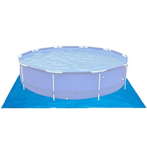 Poolunterlage 396x396 cm für runde Frame Pool Ø366cm - 110g/m² PE - Wasserdicht - Bodenfolie Unterlagen Schutz Bodenschutzplane Unterlegplane Bodenplane - Stahlrahmenpool Pool Swimmingpool Poolzubehör