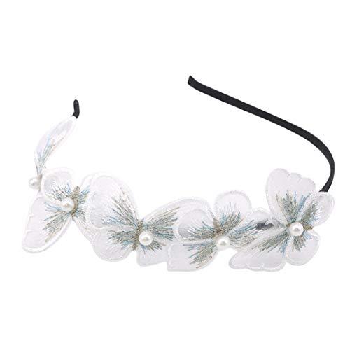 Underleaf Accessoires de Cheveux de Perle de Bandeau de Cerceau de Cheveux de Papillon pour des Femmes Filles
