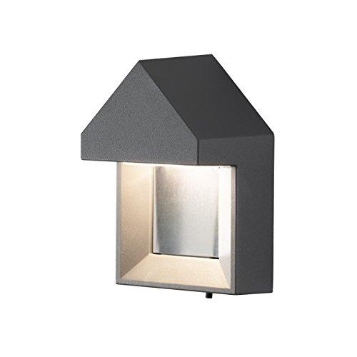 Konstsmide 7958–250 en métal Cosenza LED Haute Puissance Easy Fit Applique Murale, Blanc Mat Parent Anthracite