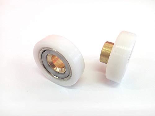 Cuscinetti Box Doccia VR - Kit 2 PEZZI Ricambio Doccia in ACCIAIO INOX diametro 20 profilo Piatto (SAMO)