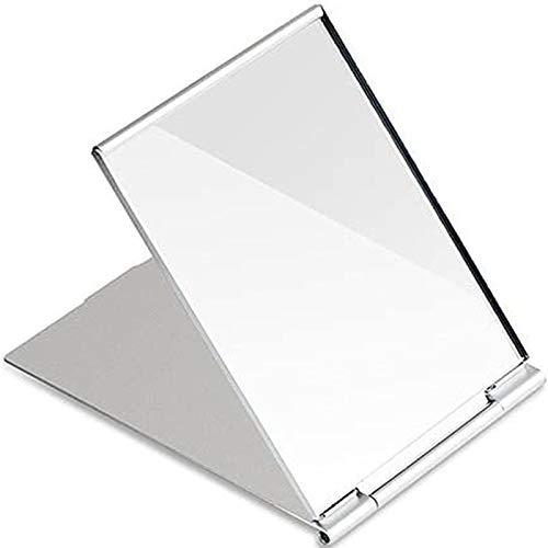 Piccolo specchio da viaggio pieghevole portatile, specchio tascabile compatto per rasatura, campeggio e trucco, piccolo piano in vetro 11.5 cm * 8 cm * 0.25 cm