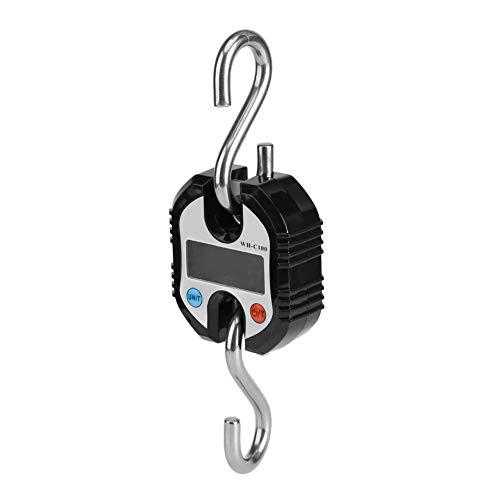 多機能 UUH 高精度 デジタルクレーンスケール 吊りはかり 電子クレーンスケール 最大計量150kg 精度50g 電子スケール バックライト デジタル秤 風袋引き機能付 LCDディスプレイ付き 見やすい 吊り下げ コンパクト 作業用(ブラック)