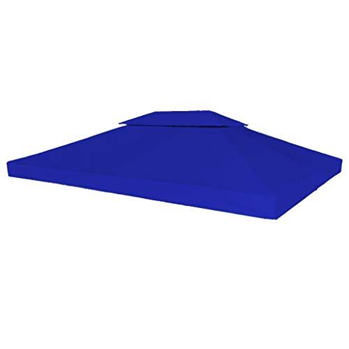 Tidyard Tonnelle Pliante | Tonnelle de Reception | Chapiteau Pliable | Chapiteau Jardin Toile Supérieure Double de Belvédère 4x3 m Bleu