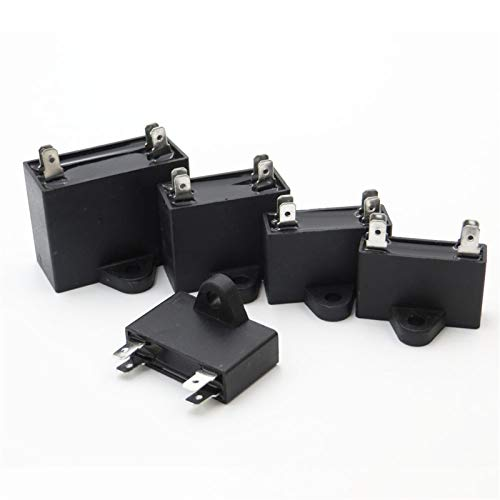 QINGRUI Ersatzteile 450V Motorlaufkondensator 1 1.5 2 2.5 3 3.5 4 4.5 5 6 8 10 400 V AC Deckenventilator 400VAC 450VAC stark und robust (Color : 2uF)