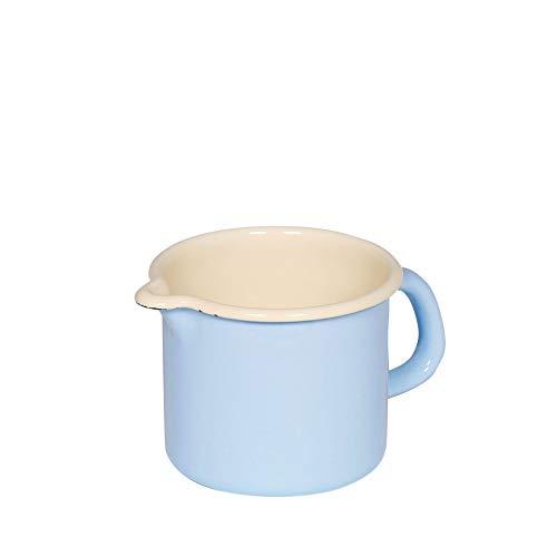 Riess - Schnabeltopf - Milchtopf - Emaille - blau - Ø 9 cm - 0,5 Liter