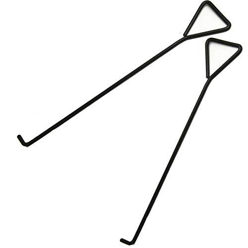 HEZHU 2 Stücke 100cm Kanalhaken Schachthaken Kanaldeckelheber Haken Für Kanaldeckel