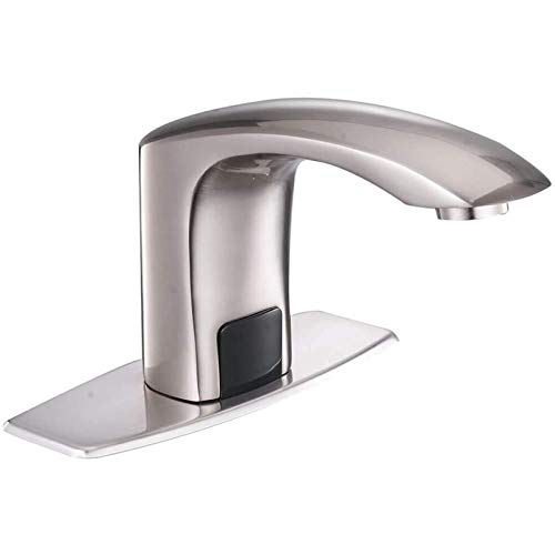 BWE Automatic Sensor Touchless Bathroom Faucet with Hole Cover Plate...