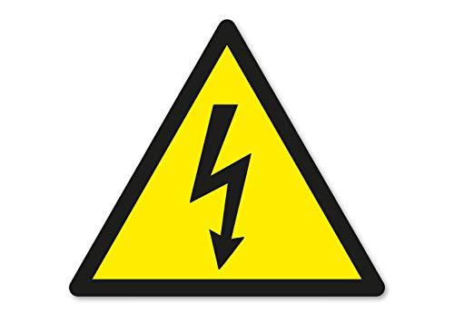 Achtung Hochspannung Aufkleber Sticker Vorsicht Stark-Strom Gefahr Warnung Schild Wetterfest